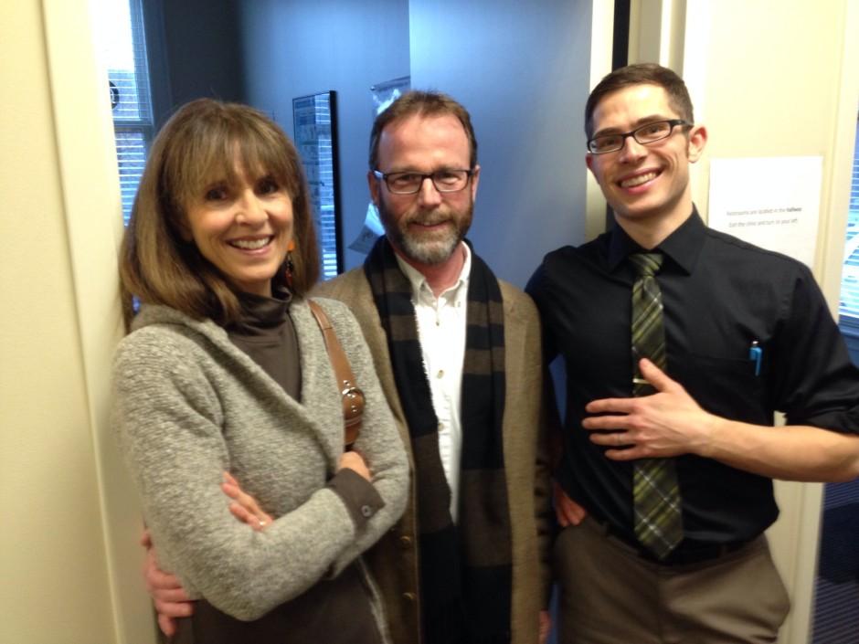 Gail Hardinger McCarthy, Chris McCarthy, and Dr. Chris LoRang.