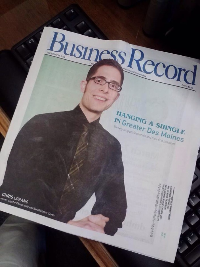 Chris LoRang in the Business Record