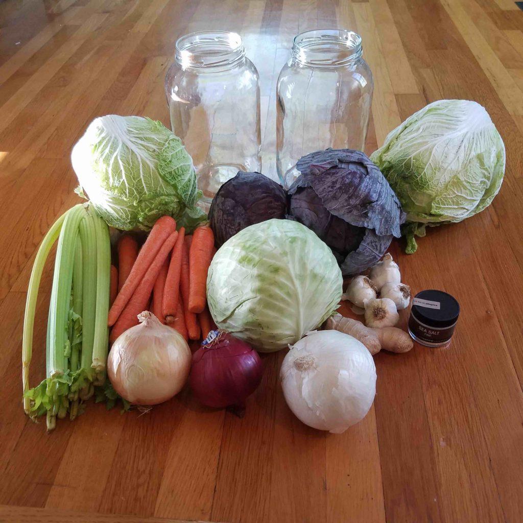 homemade sauerkraut ingredients