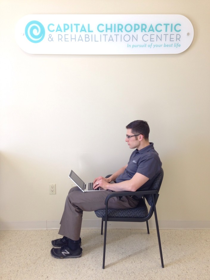 Poor posture while sitting