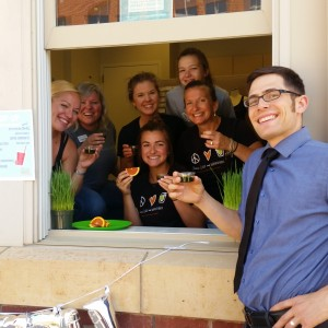 Chris LoRang and the Pop-Up Smoothie Shop Team.