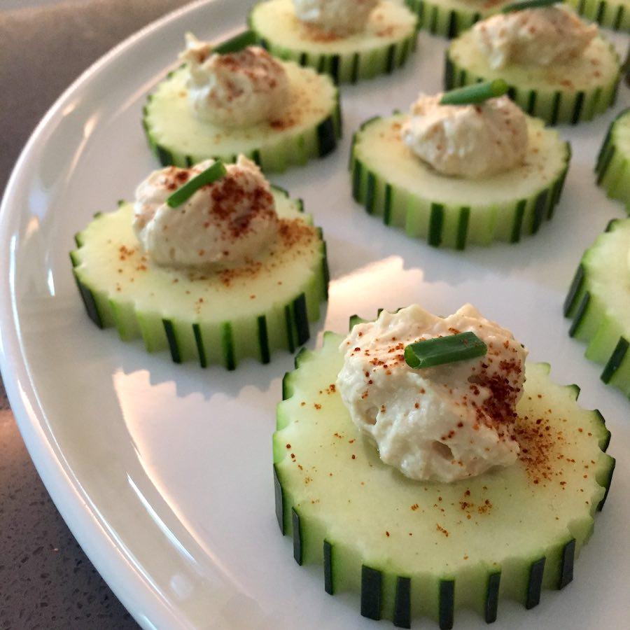 healthy recipes des moines cucumber hummus bites