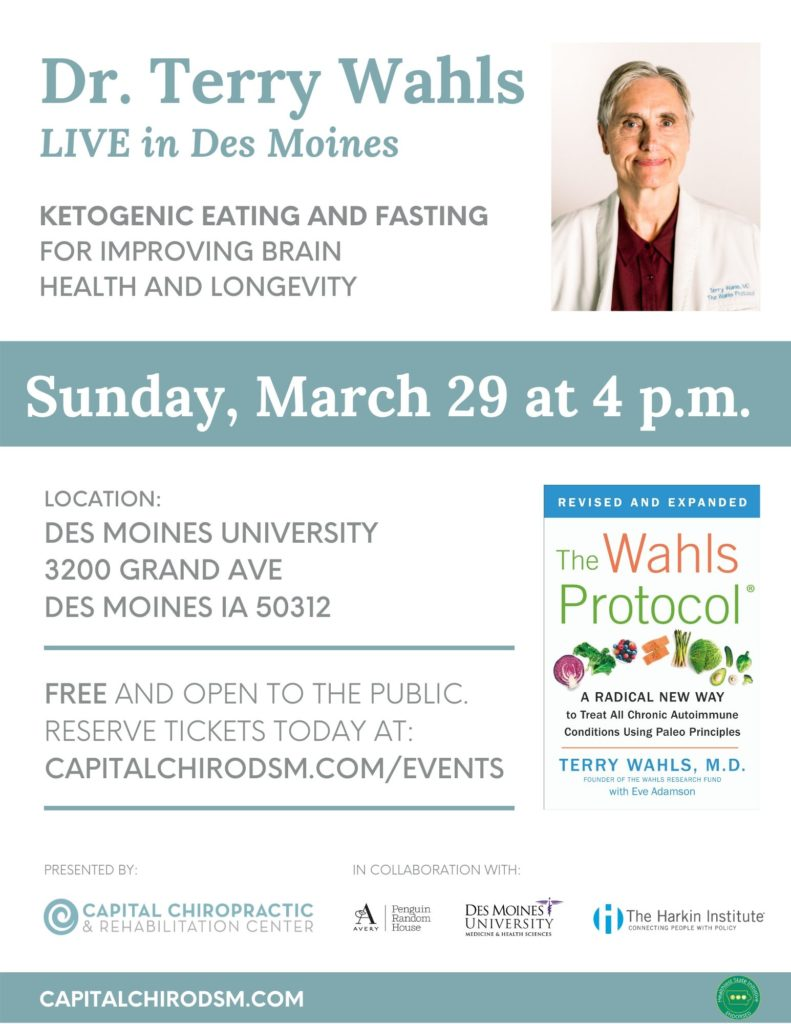 Terry Wahls LIVE in Des Moines presented by Capital Chiropractic