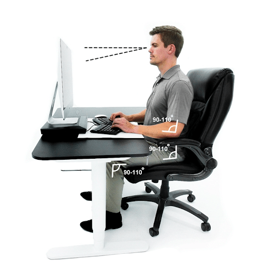 correct sitting desk posture